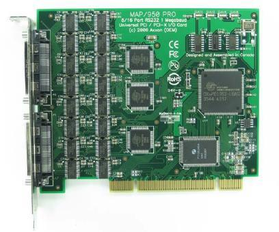 16 port serial card for PCI and extended pci-x bus (pci-x), low profile serial card
