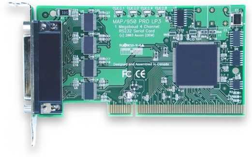 4 port serial card for PCI and extended pci-x bus (pci-x), low profile serial card